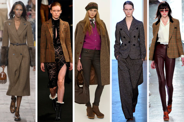 From left to right, Michael Kors, Altuzarra, Polo Ralph Lauren, Derek Lam and  Rodarte